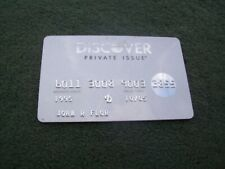 Discover Private Issue Silver Card 10/05 Exp