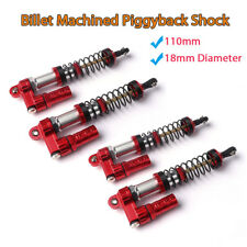 4x 110mm Billet Machined Piggyback Shock Absorber Springs For Axial SCX10 RC4WD