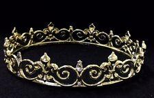 Gold Crown Prom King Queen Fleur De Lis Mardis Gras Costume Prop Decoration C14