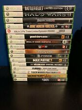Used XBOX 360 Game Lot: GTA IV, WWE 2K16, Max Payne 3, The Bigs and More
