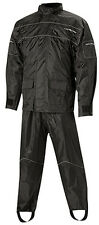 NELSON RIGGS MOTORCYCLE  RAIN SUIT PROSTORM PS-1000 - MENS XXXL 3X BLACK