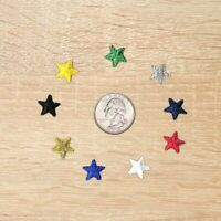Half inch Iron On Star Patches, Embroidered Star Patch Applique, USA Seller-1022