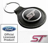 NEW GENUINE RICHBROOK FORD ST LEATHER KEYRING (FOCUS FIESTA) - OFFICIAL FORD
