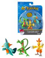 Pokemon TOMY Set Of 3 Figure GROVYLE & COMBUSKEN & MARSHTOMP Free Shipping