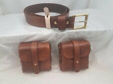 Leather Belt Belt Pouch Set