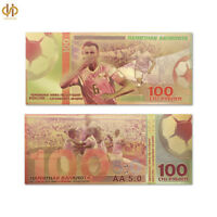Nice 2018 Russia World Cup Banknote Paper Money Collecting Gold Bill Note