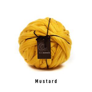 2kg Mustard Mammoth®   Giant Super Chunky Extreme Arm Knitting Big Blanket Yarn