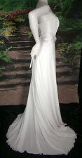 BAYLIA DESIGNS WEDDING GOWN WHITE SIZE 6 CHIFFON CORSET A-LINE PRINCESS ELEGANT