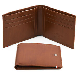 NEW Dupont Line D Brown Leather Wallet W/Credit Card ID Holder