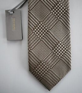 🆕️ NEW Authentic TOM FORD PLAID CHECK 100% SILK Classic Neck Tie