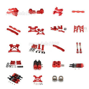 Alum Upgraded Parts For RC 1/10 Traxxas Slash 5807 DIY Red Parts