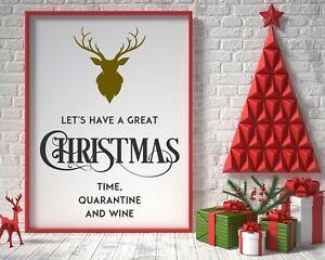 Christmas Funny Card, Home Decoration Wall Print, Christmas presents stockings