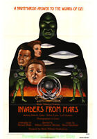 INVADERS FROM MARS MOVIE POSTER R1976 Original 27x41 Folded 1953 HORROR Classic!