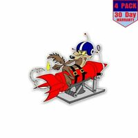 Wile E Coyote Rocket 4 Stickers 4X4 Inch Sticker Decal