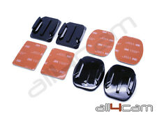 GoPro Hero 3 4 5 3M Adhesive Mounts Flat Curved Base Sticker Pads Helmet Mount