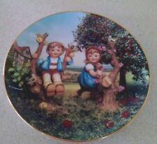 "Vintage M.j. Hummel Apple Tree Boy &Girl Little Companions Plate 8-1/8"" Diameter"