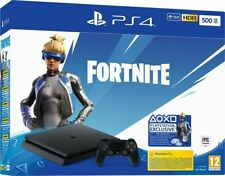 PlayStation4 Slim Black ,HDR,500 GB + Fortnite Vch(2019),Sony, PS4 Console, Nero