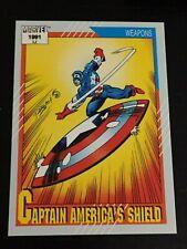 1991 Impel Marvel CAPTAIN AMERICA'S SHIELD comic card #127 ~ MINT ~  F1