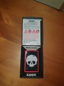 zippo lighter skull Brand New Boxed Collectable Gift ideas Interesting