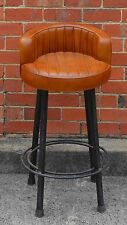Vintage Leather Retro Style Metal Industrial Cafe Bar Stool