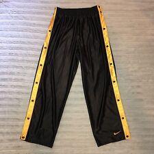VTG Men's Nike Team Sports Medium Tearaway Snap Track Pants Black Yellow SZ XL