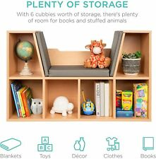 New ListingKids Book Shelves Toy Storage Reading Nook Bedroom Furniture Organizer Wood New