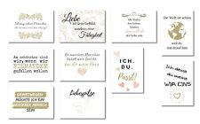 ewtshop® 20er Postkarten Set Freude mit 20 Sprüchen /& Zitaten Grußkarten