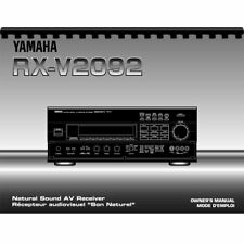 Yamaha RX-V2092 Audio/ Video Receiver Owner's/ User Manual (Pages: 88)