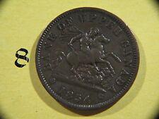 #1, 1854 Bank of Upper Canada, One Penny Bank Token