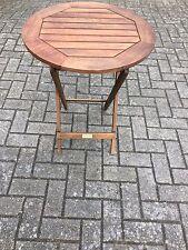 Beistelltisch Gartentisch Akazie geölt 60cm  Neu OVP Klapptisch Tisch rund