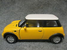Kinsmart 1:28 Scale Diecast Mini Cooper Pull Back Friction Toy Car YELLOW