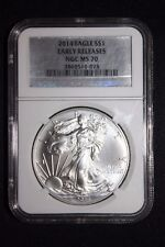 2014 SILVER EAGLE NGC MS70 ER SILVER LABEL RARELY SEEN SILVER LABEL