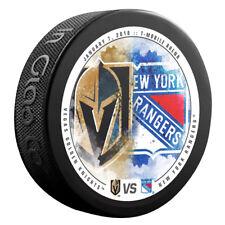 VEGAS KNIGHTS vs NEW YORK RANGERS Souvenir NHL Matchup Hockey Puck 01/07/18