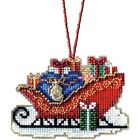 TRADITIONAL CHRISTMAS SLEIGH by MILL HILL BEADED CHARMED SLEIGH ORNAMENTS