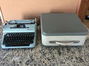 "Vintage Olympia ""S"" Portable Manual Typewriter w/ Case"
