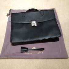 Mens Black Leather Mulberry Briefcase (with laptop compartment) RRP £1,100