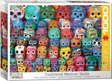 Eurographics Puzzle 1000 Piece Jigsaw  Traditional Mexican Skulls EG60005316