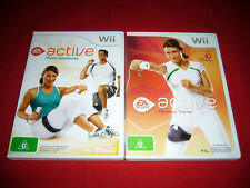 Nintendo Wii EA Active Personal Trainer + More Workout Games Bundle 2 Games
