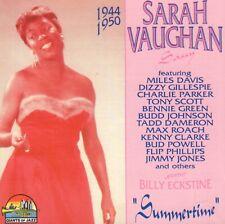 SARAH VAUGHAN – SUMMERTIME - 1944-1950 (2004 JAZZ CD COMPILATION ITALY)