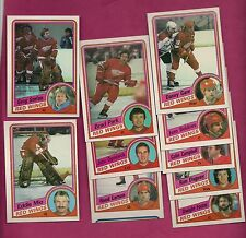 1984-85 TOPPS DETROIT RED WINGS CARD LOT  (PARK + STEFAN RC  + MIO ) (INV#5956)