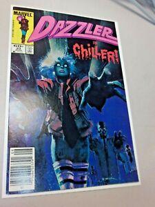 """Dazzler #33, Aug 1984, Bill Sienkiewicz, """"Thriller"""" Newsstand Variant"""