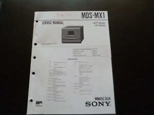 Original Service Manual Schaltplan  Sony MDS-MX1