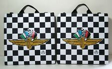 2 Indianapolis Motor Speedway Padded Seat Cushions w/ Storage Pockets Indy 500