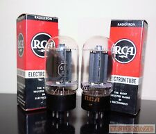 RARE Matched Pair RCA 6L6GC BLACK plates tubes - Holly Grail - Tests NOS