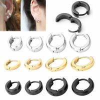 2pcs Stainless Steel Hoop Ear Helix Hoop Earrings Huggies Piercing 18G(1mm) Gold