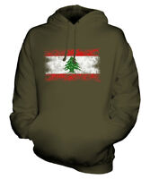 LEBANON DISTRESSED FLAG UNISEX HOODIE TOP LUBNAN FOOTBALL LEBANESE GIFT