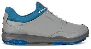 ECCO Mens Biom Hybrid 3 GTX Spikeless Golf Shoes, EU 41 US 7/7.5, GREY/BLUE