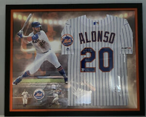 Pete Alonso Signed Inscribed Framed Jersey LE 1/20 FANATICS