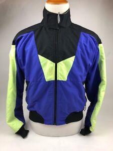 Vintage Cannondale Cycling Mens Jacket Coat Medium Neon Retro Bike