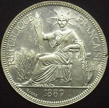 FRENCH INDO-CHINA 1889-A SILVER PIASTRE  GEM UNCIRCULATED